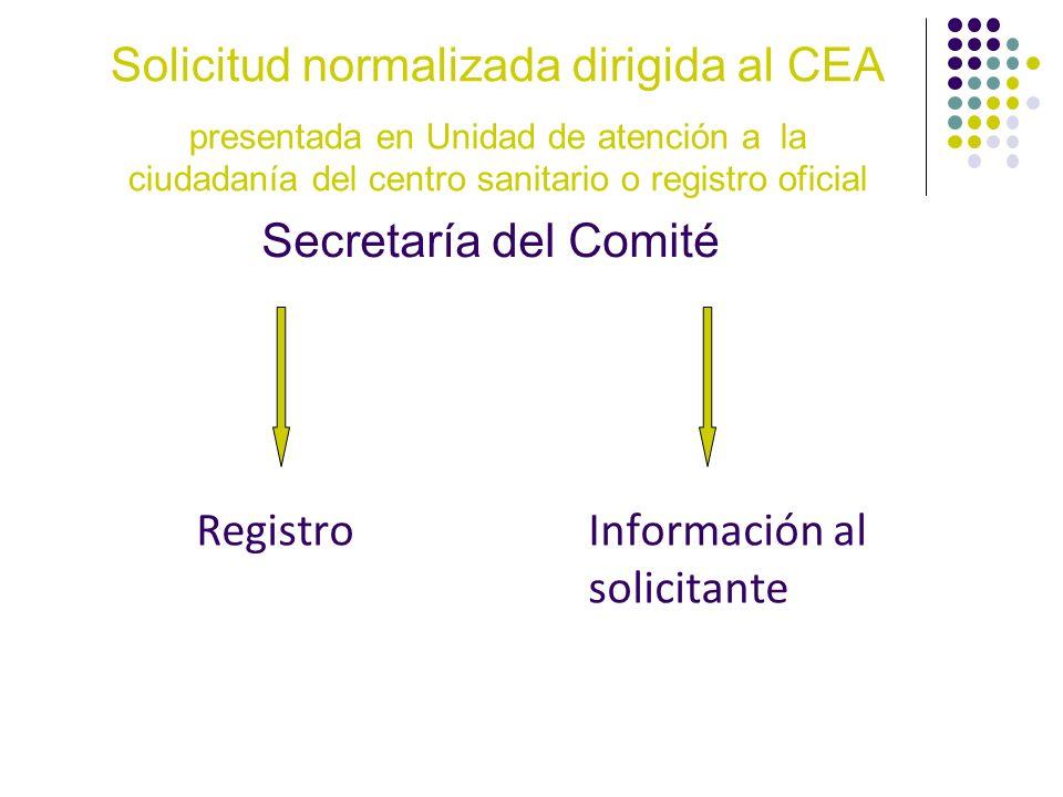 Registro Información al solicitante