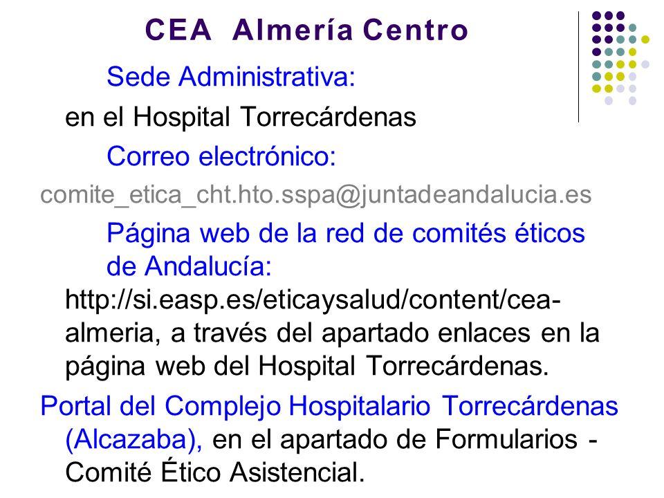 CEA Almería Centro Sede Administrativa: en el Hospital Torrecárdenas