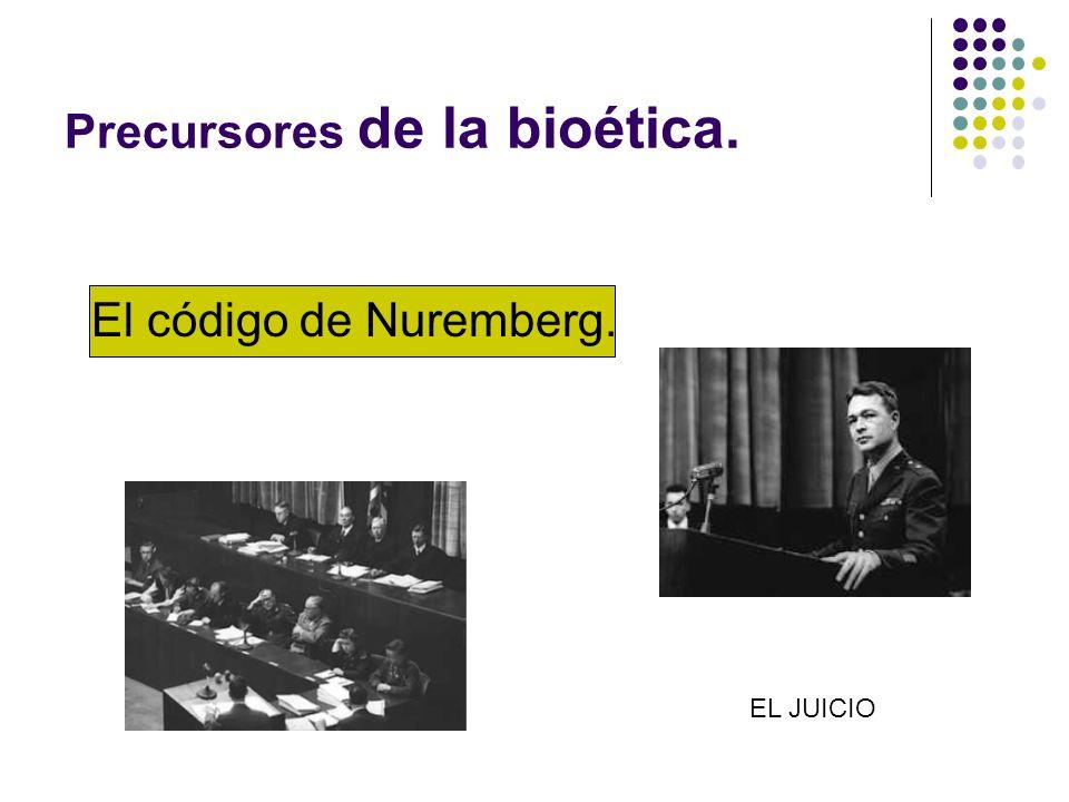 Precursores de la bioética.