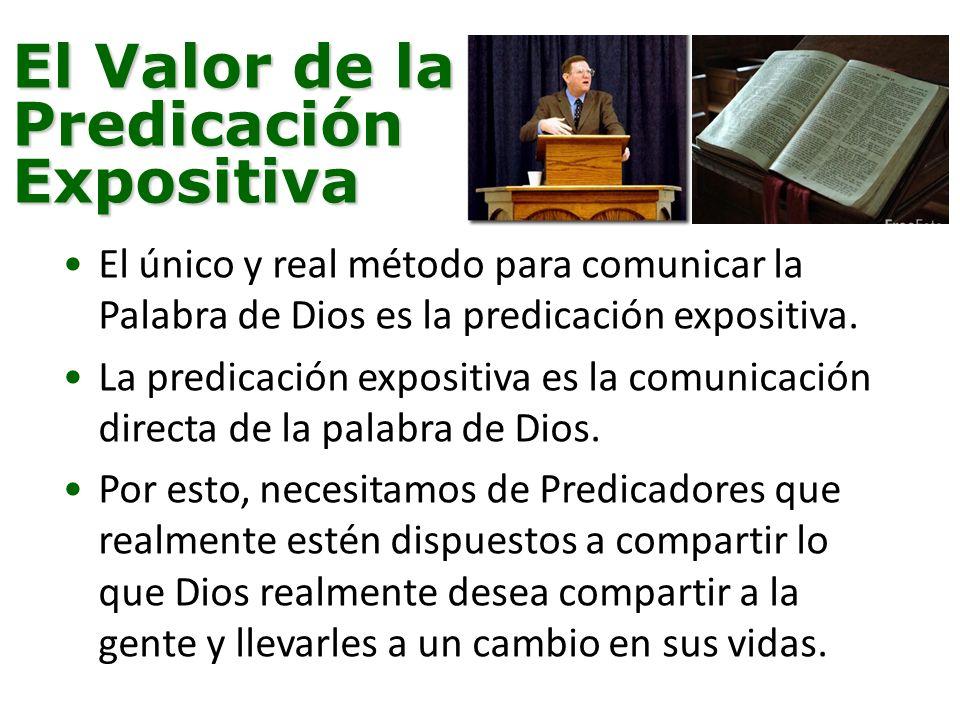 El Valor de la Predicación Expositiva