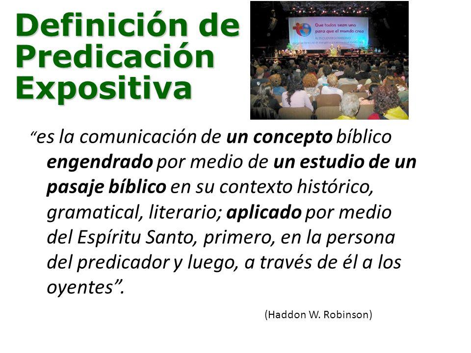 Definición de Predicación Expositiva