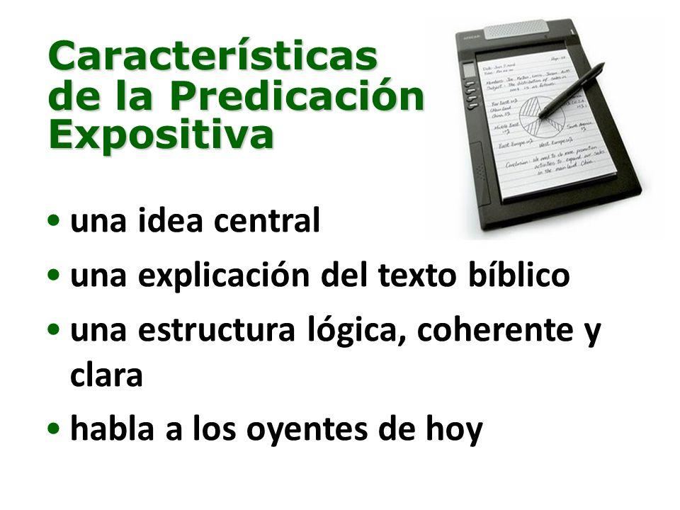 Características de la Predicación Expositiva