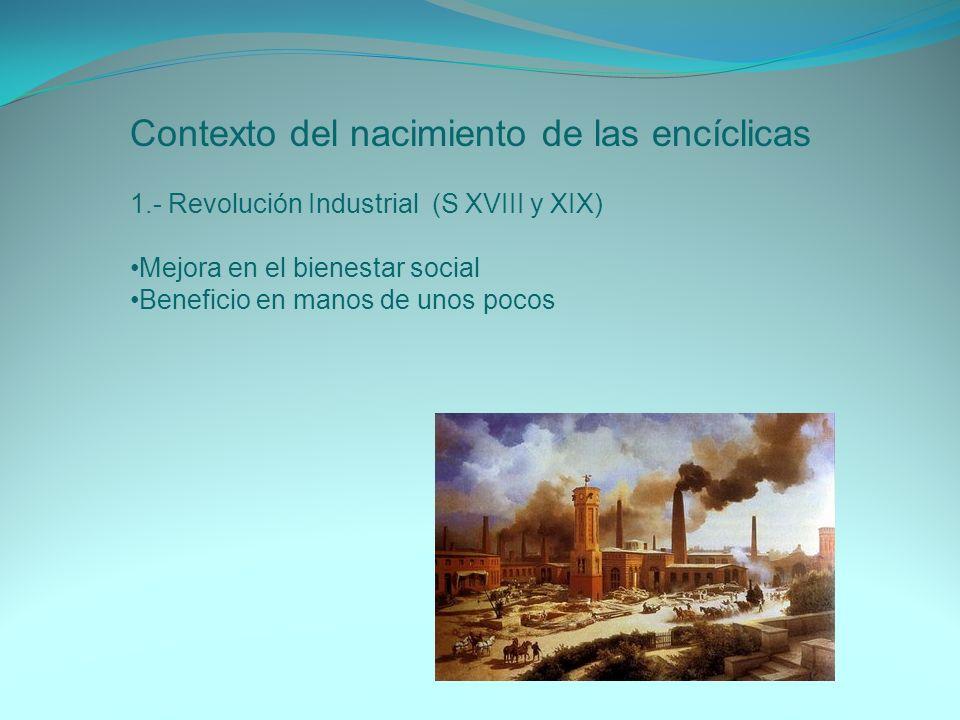 Contexto del nacimiento de las encíclicas