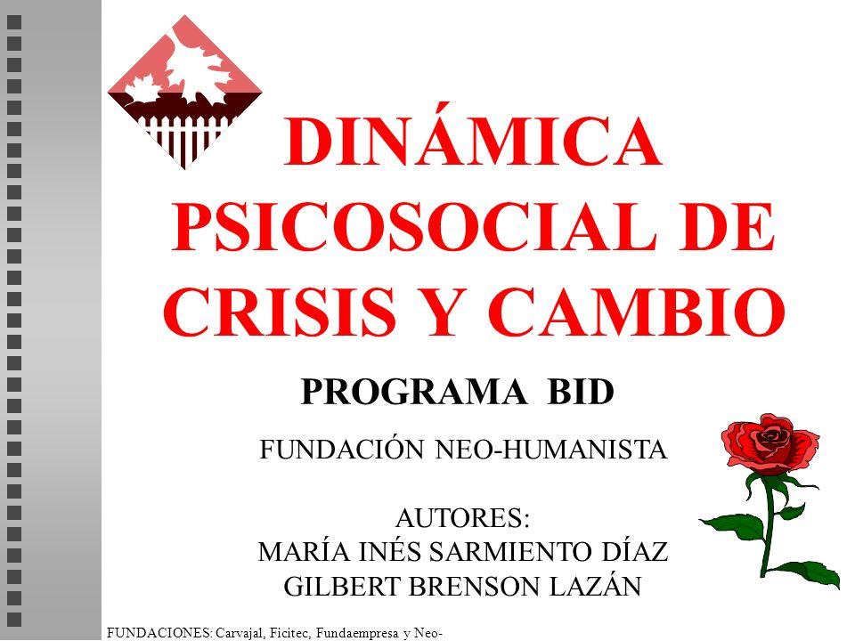 DINÁMICA PSICOSOCIAL DE CRISIS Y CAMBIO