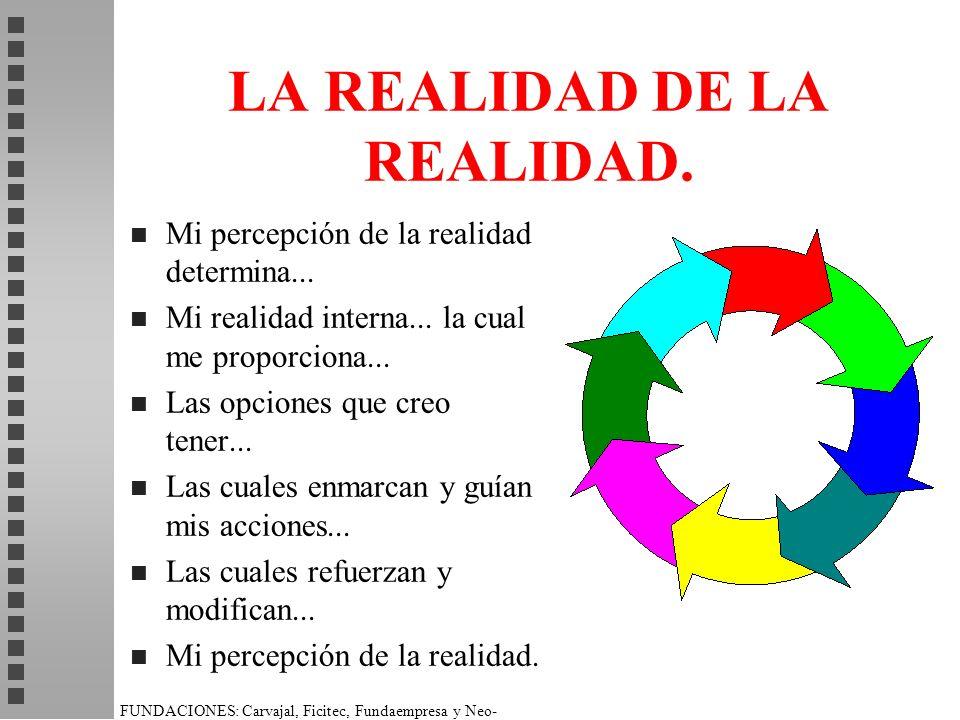 LA REALIDAD DE LA REALIDAD.