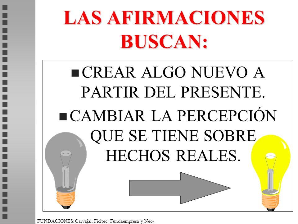 LAS AFIRMACIONES BUSCAN: