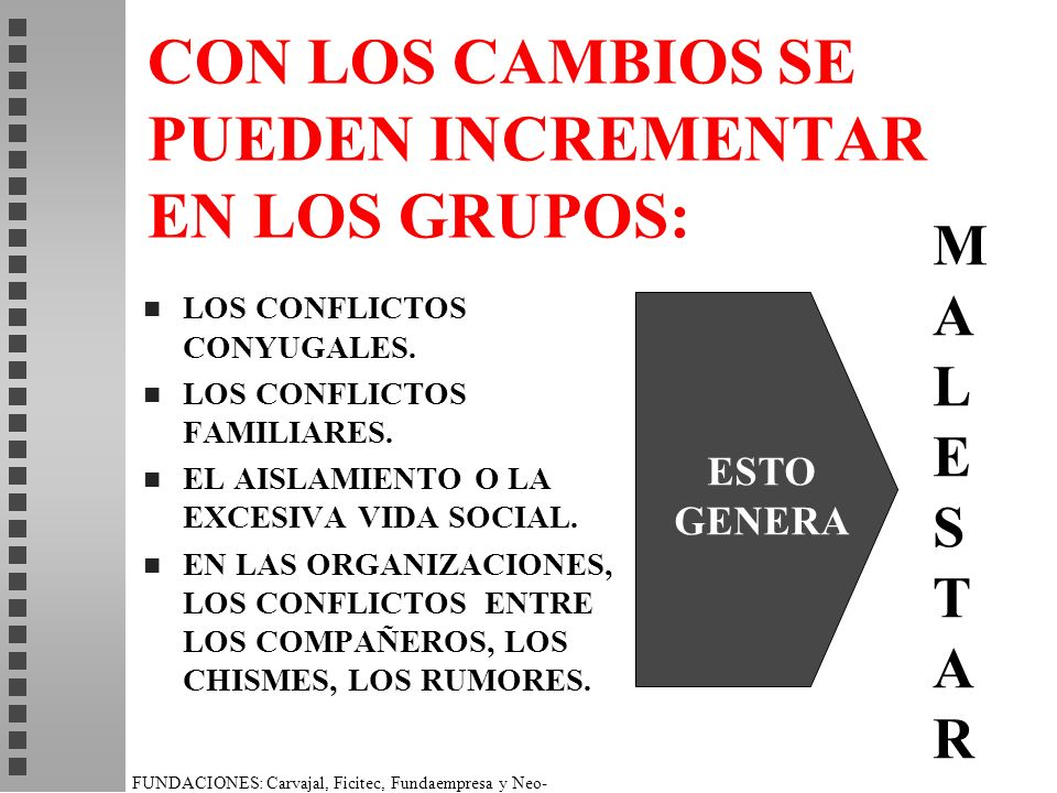 CON LOS CAMBIOS SE PUEDEN INCREMENTAR EN LOS GRUPOS: