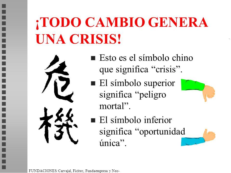 ¡TODO CAMBIO GENERA UNA CRISIS!
