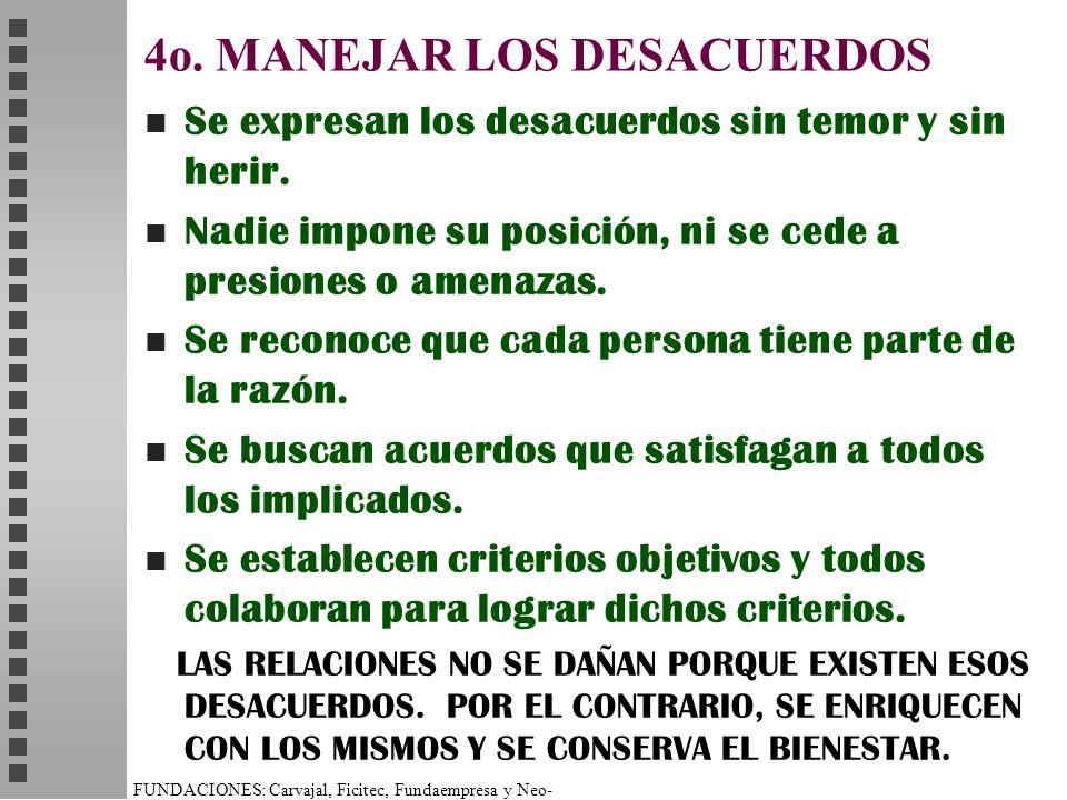 4o. MANEJAR LOS DESACUERDOS