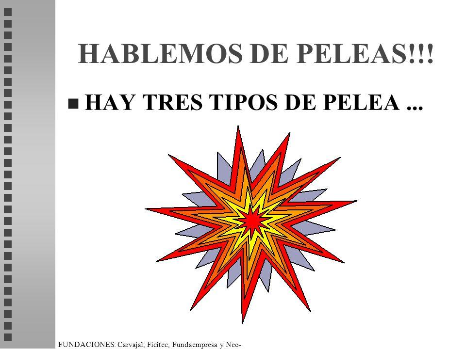 HABLEMOS DE PELEAS!!! HAY TRES TIPOS DE PELEA ...
