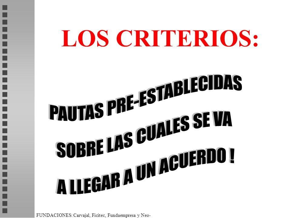 LOS CRITERIOS:
