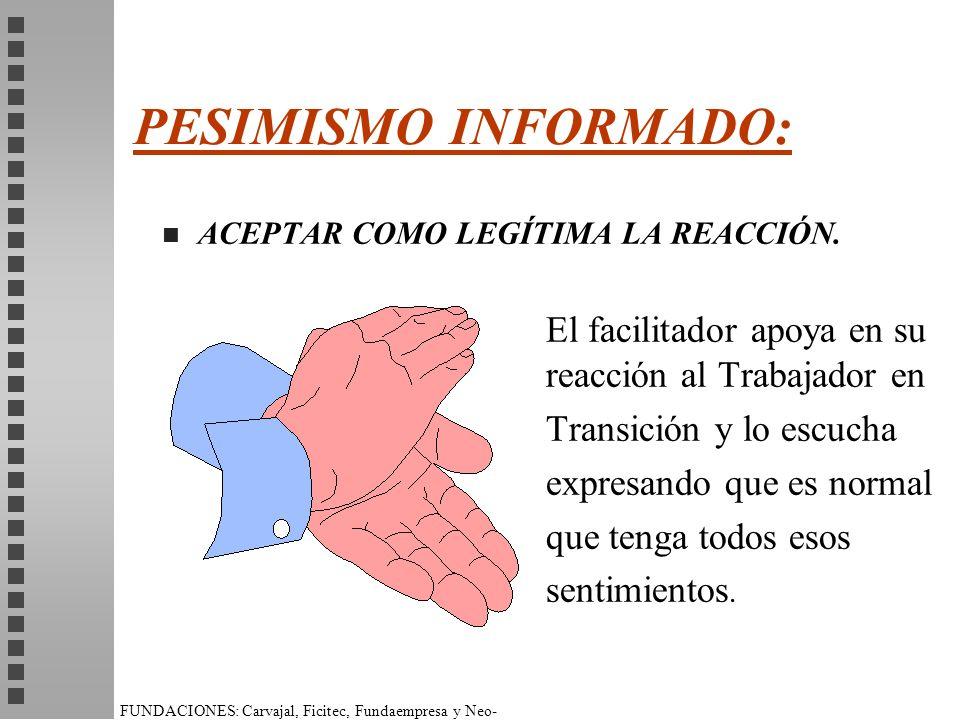 PESIMISMO INFORMADO: Transición y lo escucha expresando que es normal