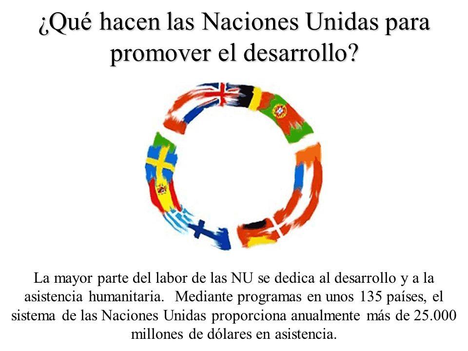 ¿Qué hacen las Naciones Unidas para promover el desarrollo