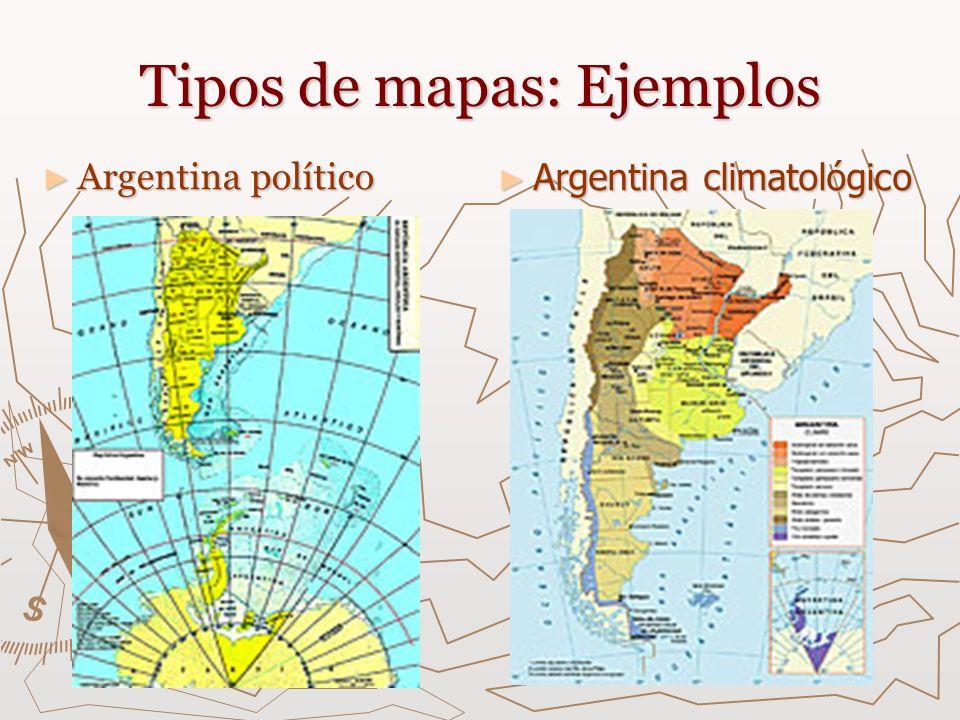 Tipos de mapas: Ejemplos