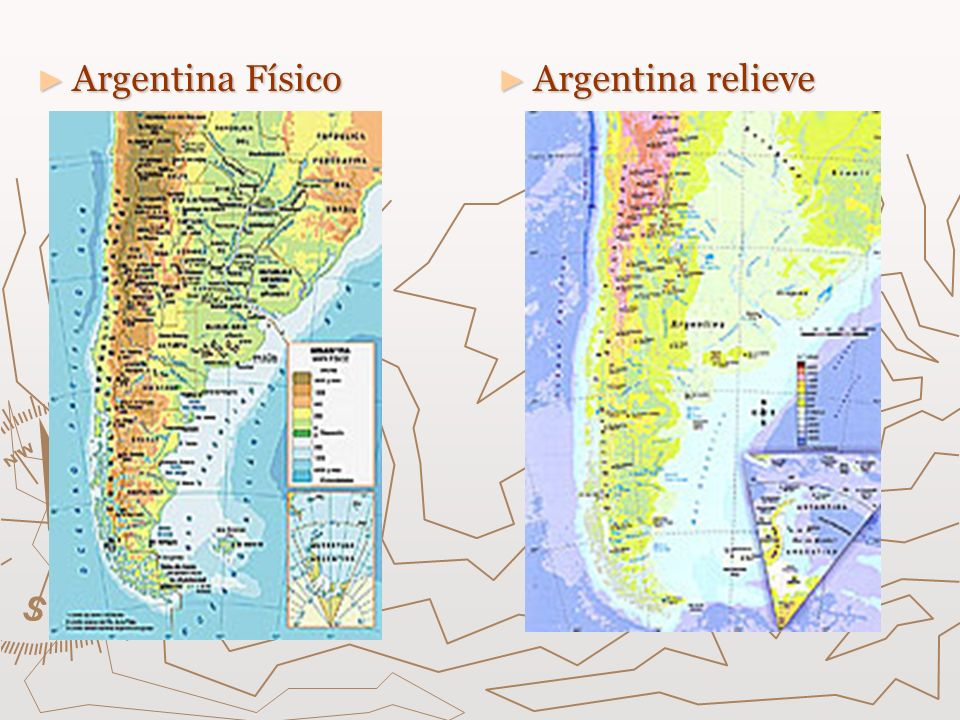 Argentina Físico Argentina relieve