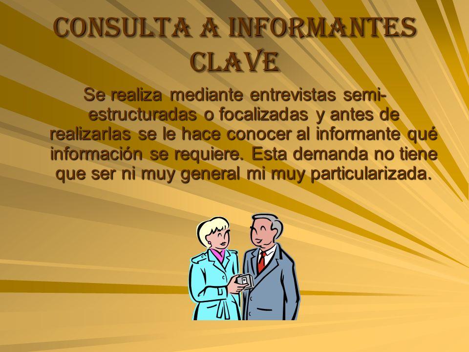 Consulta a informantes clave