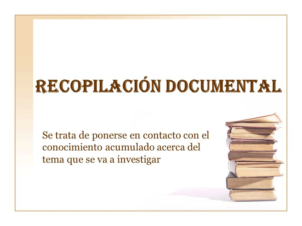 Recopilación documental