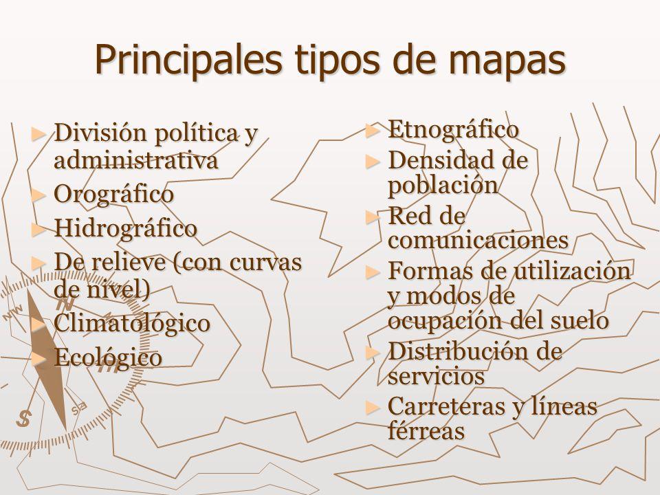 Principales tipos de mapas