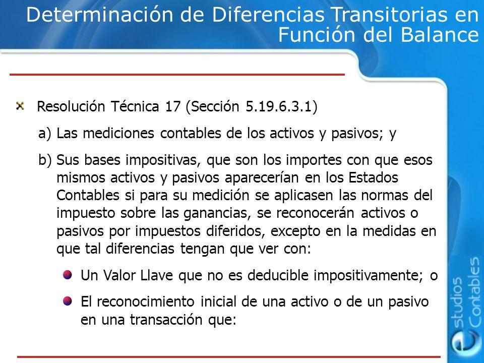 Determinación de Diferencias Transitorias en Función del Balance
