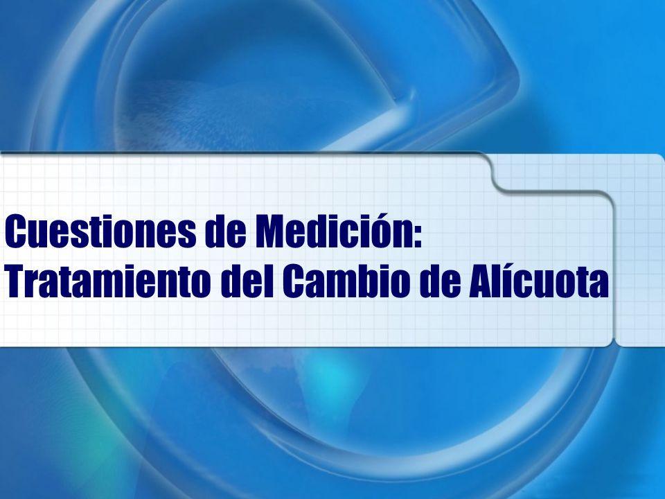 Cuestiones de Medición: