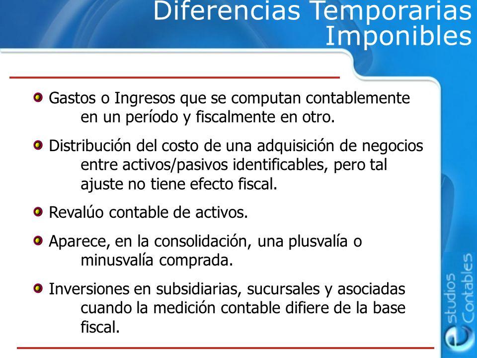 Diferencias Temporarias Imponibles