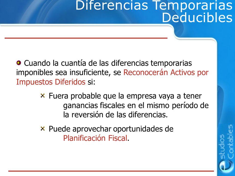 Diferencias Temporarias Deducibles