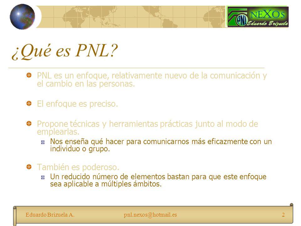 ¿Qué es PNL PNL es un enfoque, relativamente nuevo de la comunicación y el cambio en las personas.
