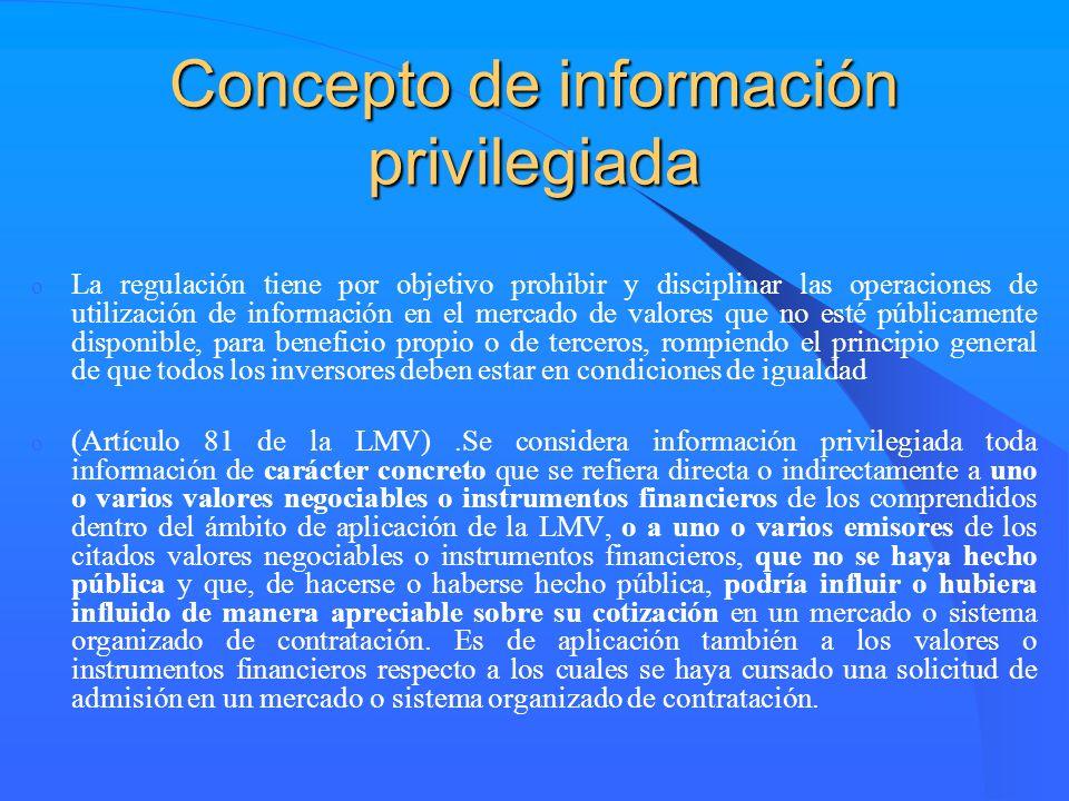 Concepto de información privilegiada