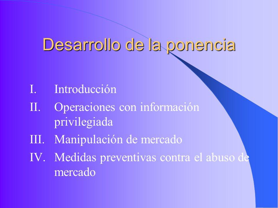Desarrollo de la ponencia