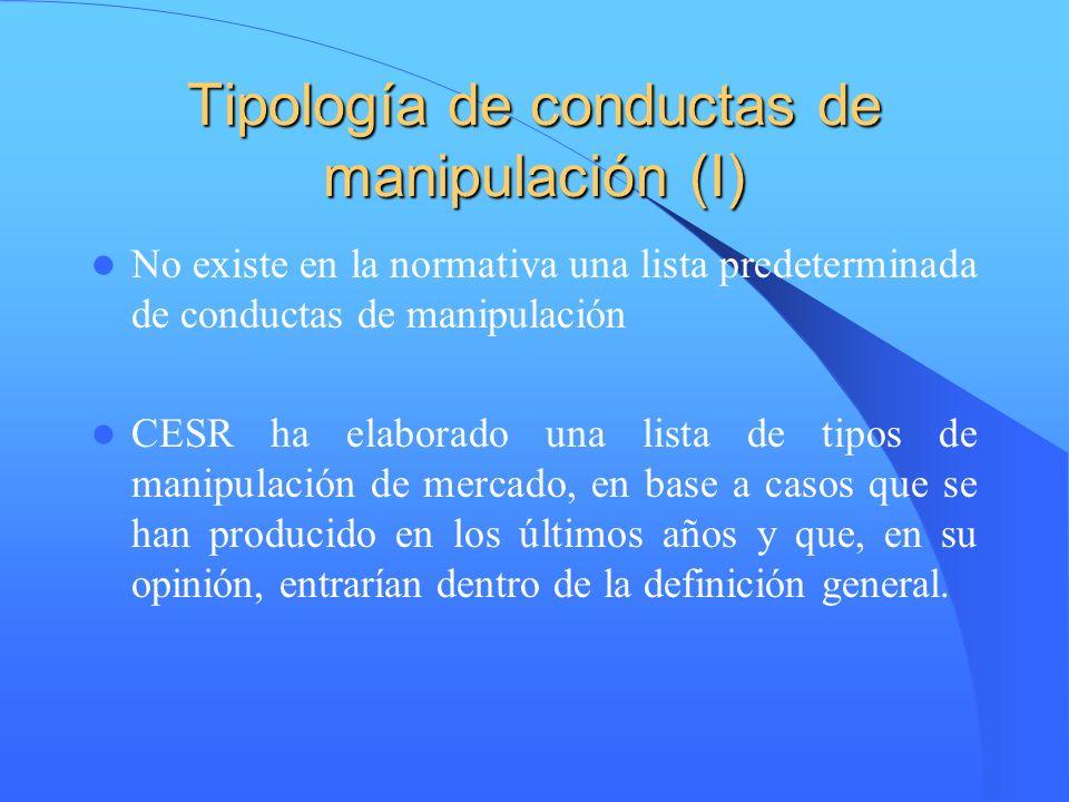 Tipología de conductas de manipulación (I)