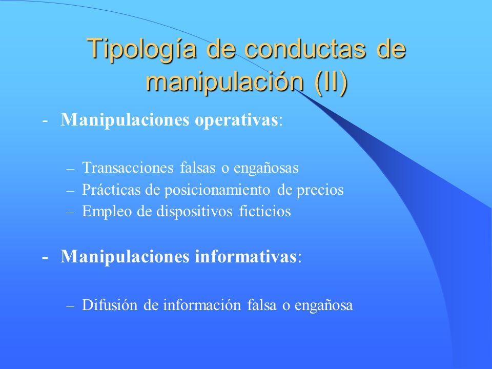 Tipología de conductas de manipulación (II)