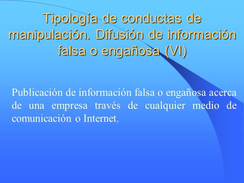 Tipología de conductas de manipulación