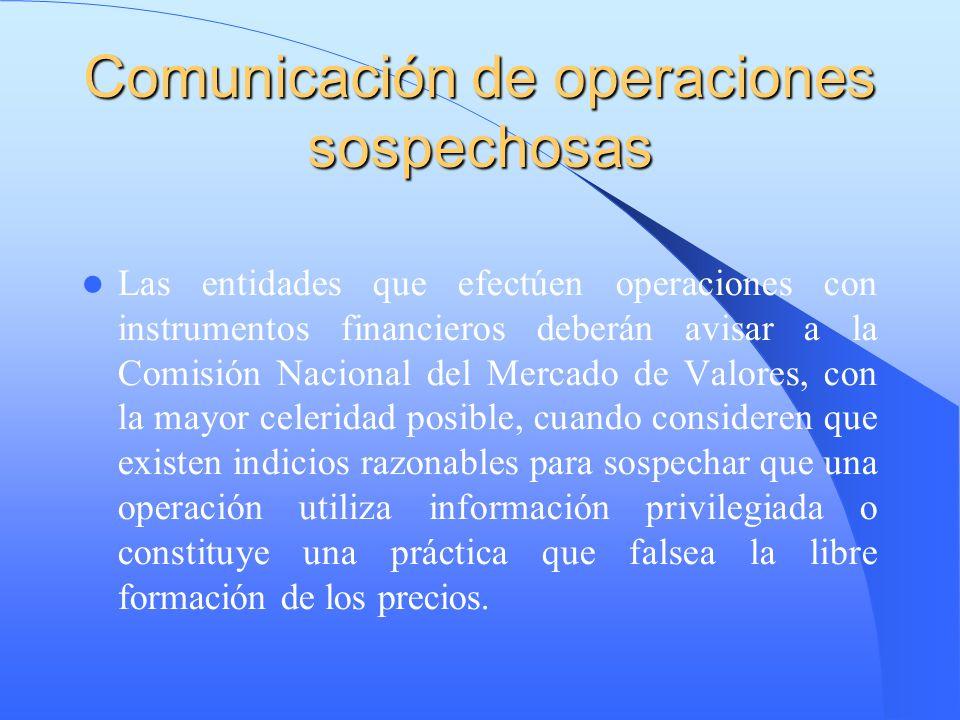 Comunicación de operaciones sospechosas