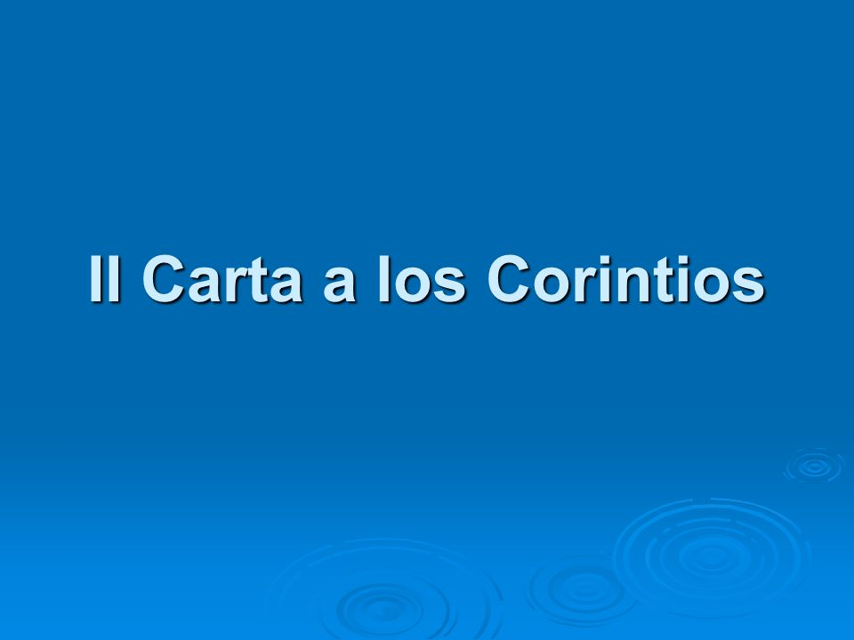 II Carta a los Corintios