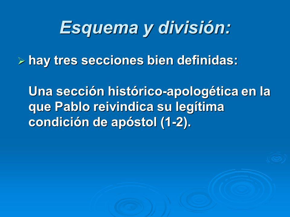 Esquema y división: