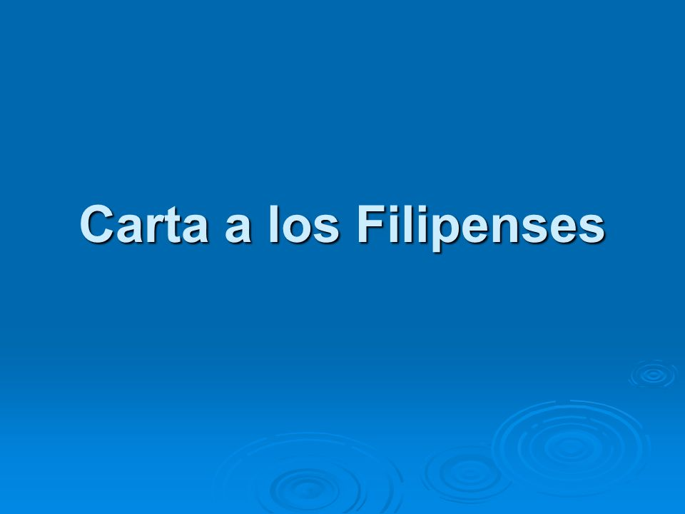 Carta a los Filipenses