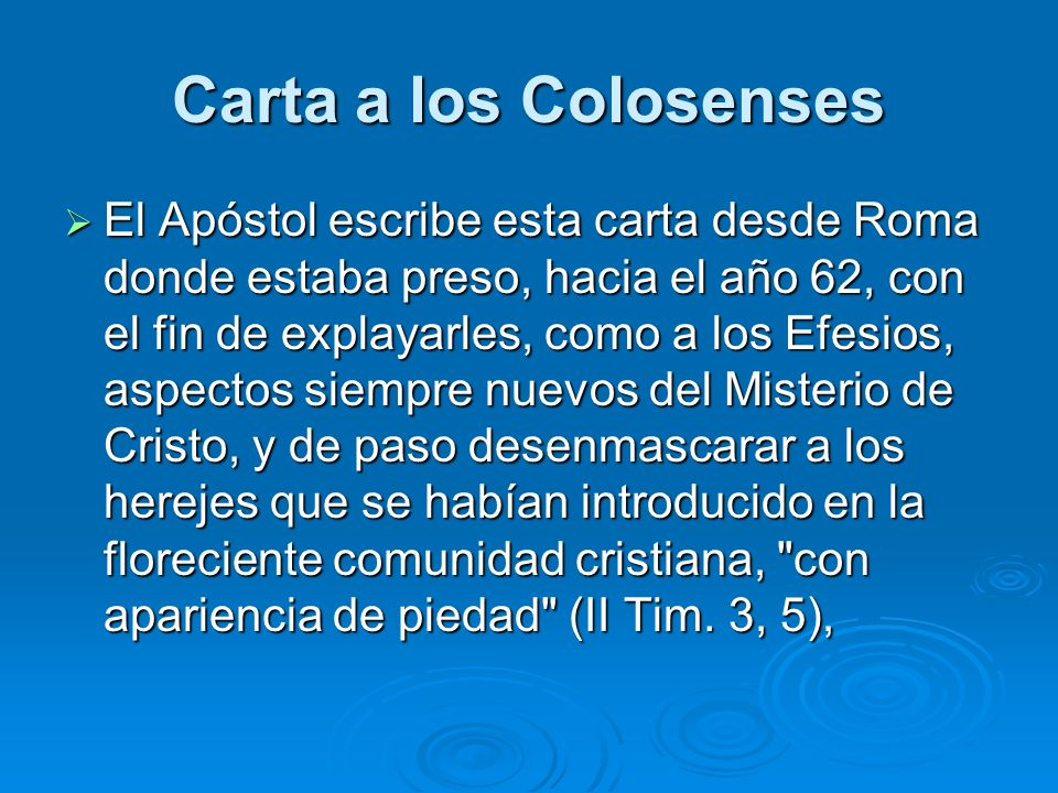 Carta a los Colosenses