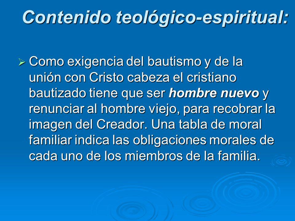 Contenido teológico-espiritual: