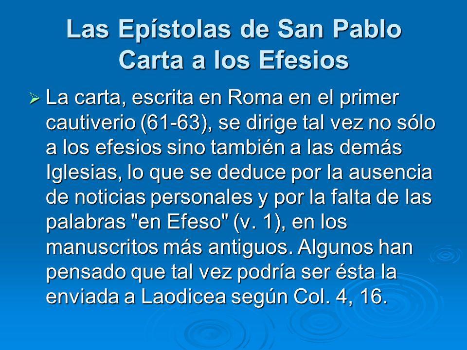 Las Epístolas de San Pablo Carta a los Efesios