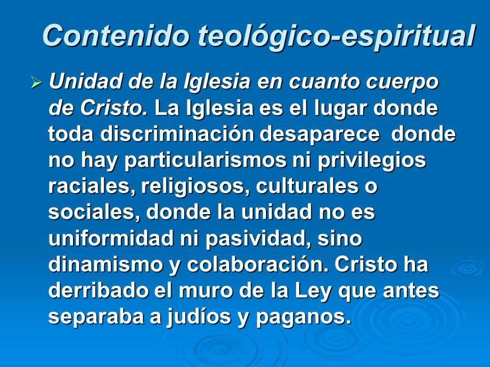 Contenido teológico-espiritual