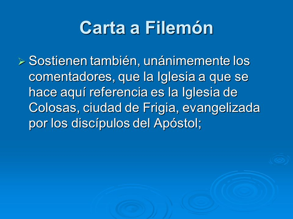 Carta a Filemón