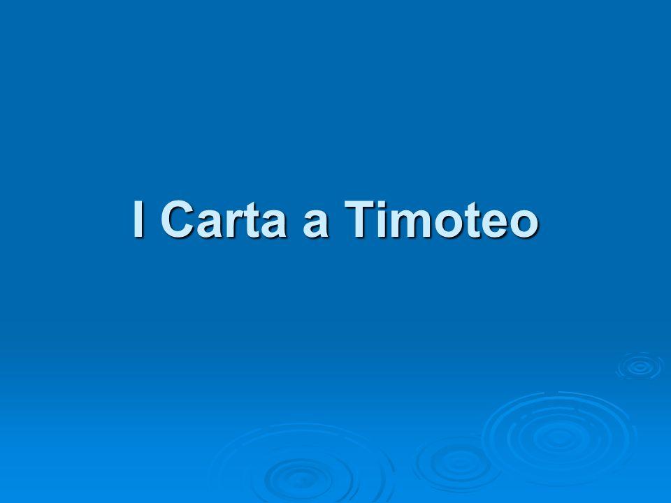 I Carta a Timoteo