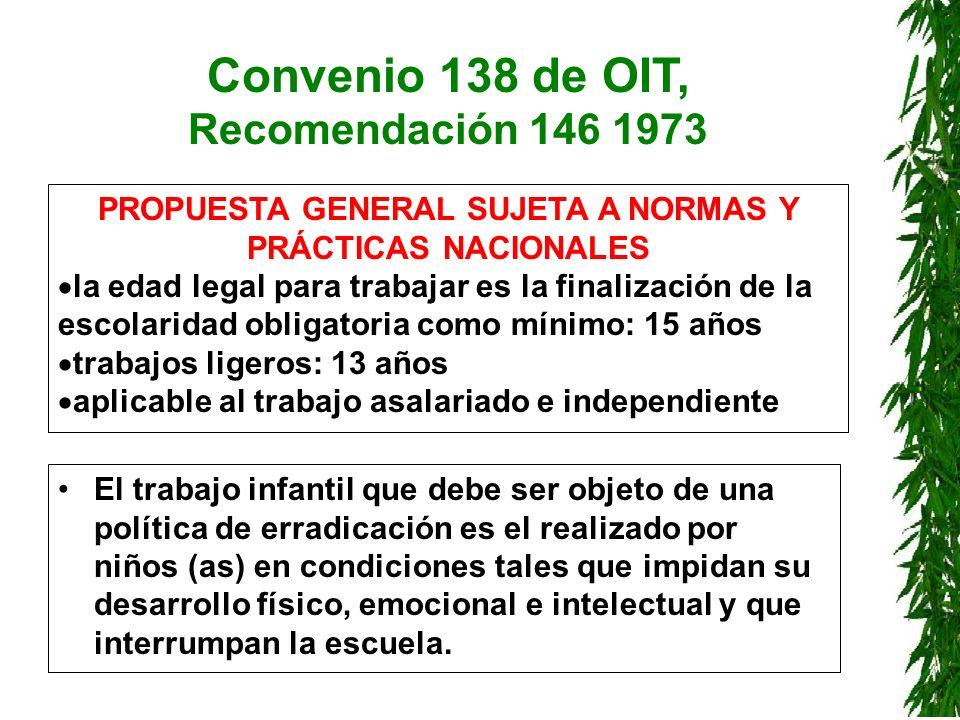 Convenio 138 de OIT, Recomendación 146 1973