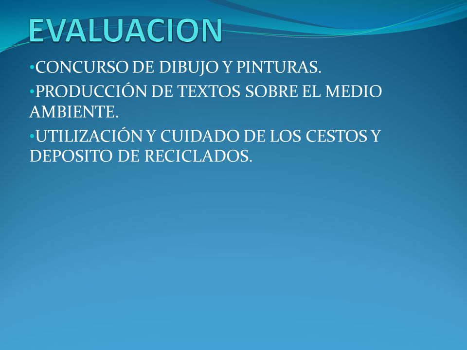 EVALUACION CONCURSO DE DIBUJO Y PINTURAS.