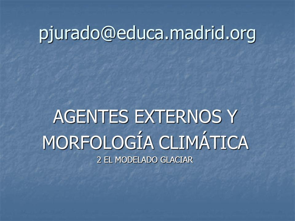AGENTES EXTERNOS Y MORFOLOGÍA CLIMÁTICA 2 EL MODELADO GLACIAR