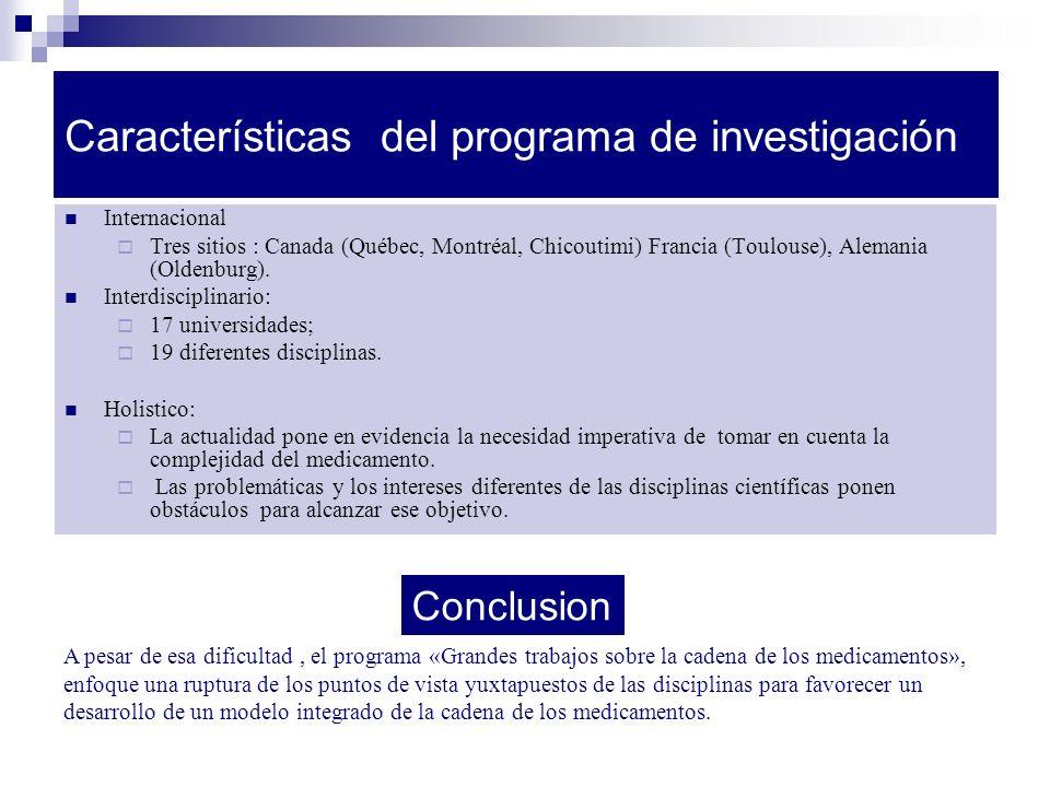 Características del programa de investigación