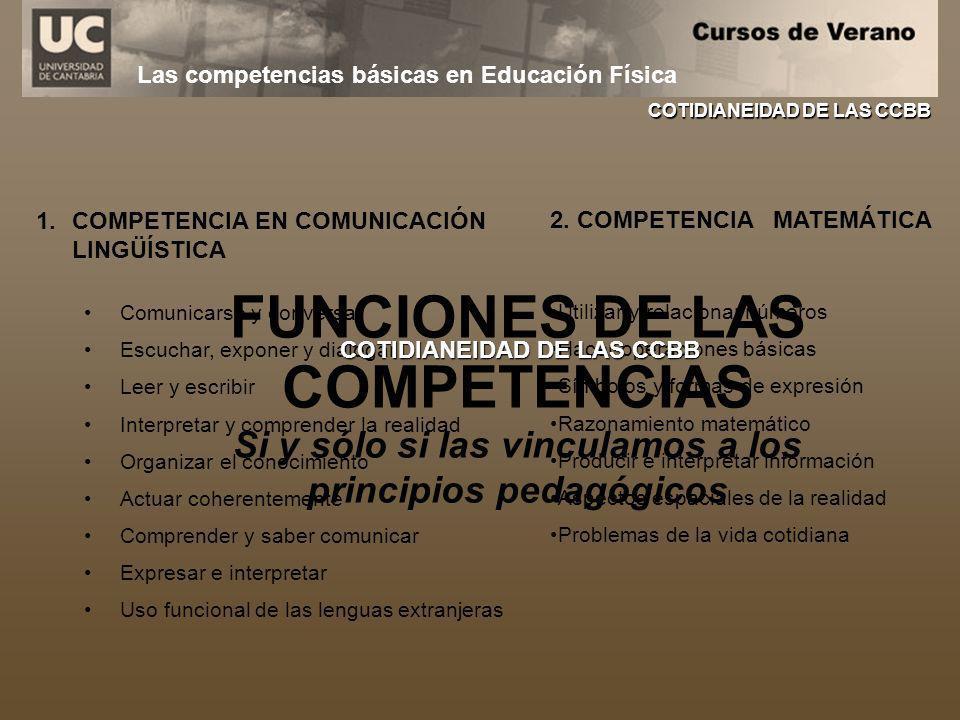 FUNCIONES DE LAS COMPETENCIAS