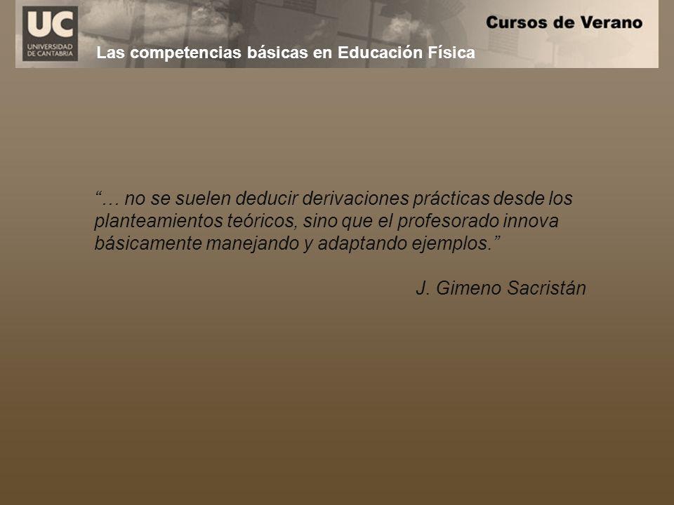 Las competencias básicas en Educación Física