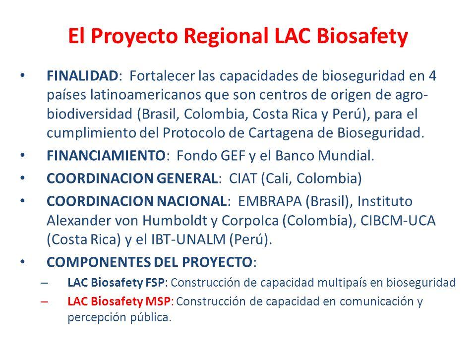El Proyecto Regional LAC Biosafety