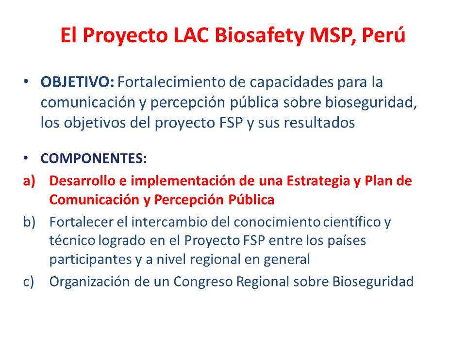 El Proyecto LAC Biosafety MSP, Perú